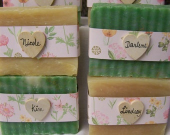 Bridesmaids gifts, rustic favors, handmade soaps, wedding gifts, personalized wedding gift,