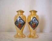 Sale - Made in Japan Art Deco Lusterware Salt and Pepper Shakers Lustreware