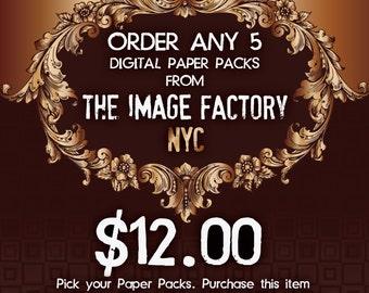 Special Offer. Order any 5 Digital Paper Packs.