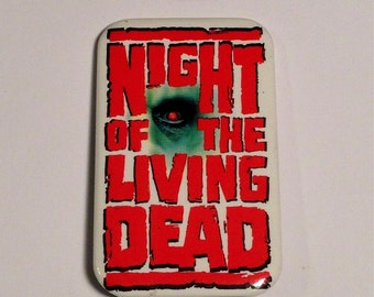 Night of the Living Dead,Vintage Pinback Button, Zombies Button,Columbia Pictures 1990
