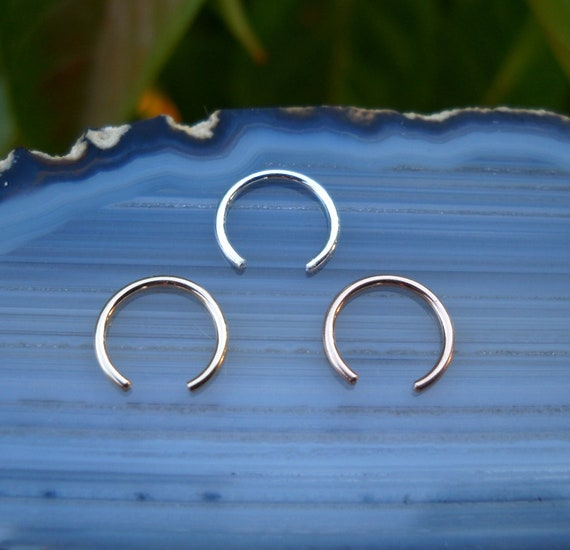 FAKE Nose Rings - Set of Three  - Sterling Silver, 14K Yellow Gold Filled, 14K Rose Gold Filled - Faux Nose Rings - Nose Cuffs