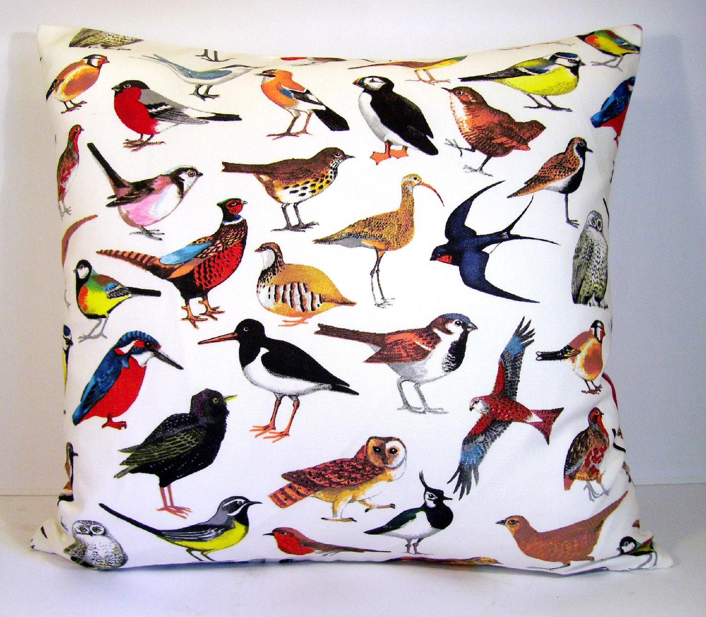 Bird pillow cover throw pillow cover bird lovers pillow