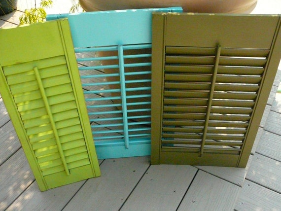 French Cottage SALE / Vintage Painted Shutter / Mail Sorter/ Bulletin Board / Card Display