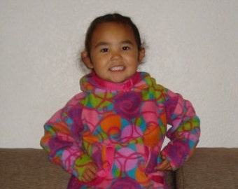 Beautiful Warm Handmade Fleece Alaska Native Child  Kuspuk Made to Order