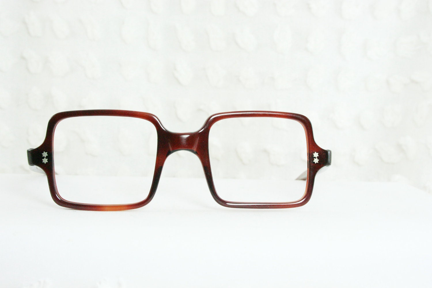 Eyeglass Frames Square : Vintage 60s Square Glasses Mod Tortoise 1960s by DIAeyewear