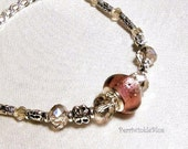 Elegant Crystal  Bracelet in Silver and Burgundy