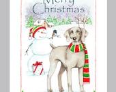 Weimaraner Christmas Card