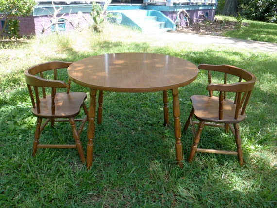 Table and Chair Set Child Sized Furniture Kids Table Kids Chairs 1960s