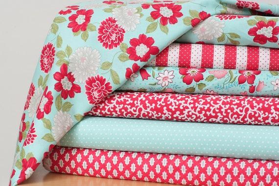 Vintage Modern Fabric Bundle by Bonnie and Camille for Moda- 1 yard Bundle