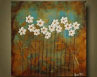 Abstract Flower art painting by KAG