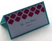 Place Card - Elegant Indian Tent Name Card - Escort Card - Modern Arch Print - Custom Colors