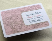 RESERVED for Shavon - Vintage Wedding Save the Date Postcard and Invitation