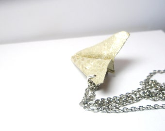 Silver Paper Airplane Necklace, Harry Styles, One Direction