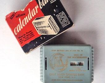 Vintage Rare Calendar Zodiac Bank from East River Savings Bank, NY