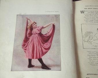 Antique The New Idea Speaker for Children, 1901, antique book, Victorian book, antique children's book photographs christian children's book