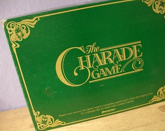 The Charade Game, 1985, board game for teams, party game, Pittsburgh, winter ski cabin game