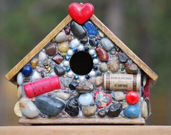 Birdhouse Mosaic Valentine
