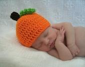 Pumpkin baby hat for Halloween / cute photo prop