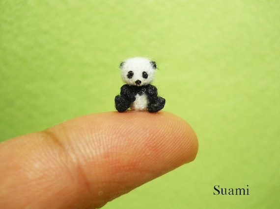 Micro Panda Bear 0.4 Inch - Made To Order