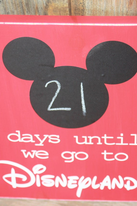 Mickey Mouse Countdown To Disneyland Chalk Board Sign By