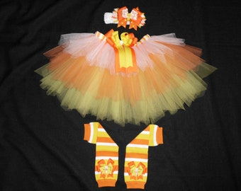 Candy Corn Cutie tutu set custom made sizes Newborn-4t