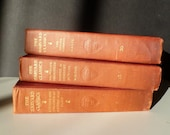 Vintage books Harvard Classics three volumes decorative books