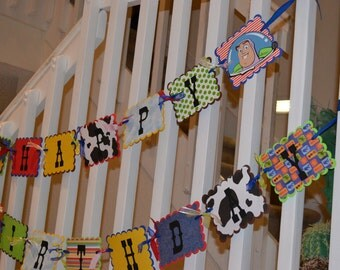 Toy Story Happy Birthday Banner, Toy Story Party Supplies