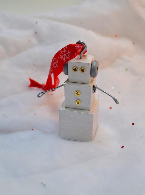 Snowman Robot Ornament Christmas Holiday Tree Decoration