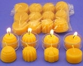 Organic Beeswax Tealights, 12 Mixed Tea Light Candles, Pure Beeswax Candles, Home Decor Candles, Variety Pack, Tea Light Refills,