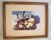 Vintage Ski Picnic Framed Photograph
