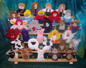 2 Original Felt Finger Puppets for Imaginative Play and Learning