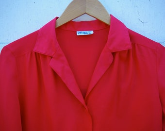 Red Levi's Blouse
