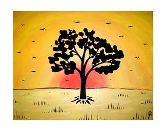 Drop Tree 25 Art Print on Cardstock