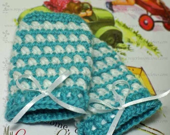 Crochet Pattern Baby Mittens - Cross My Heart Mitts