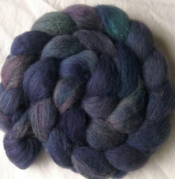 "Jacob wool roving, ""Mood Disorder"", hand dyed spinning fiber"