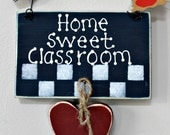 Wooden Navy Blue Home Sweet Classroom Sign