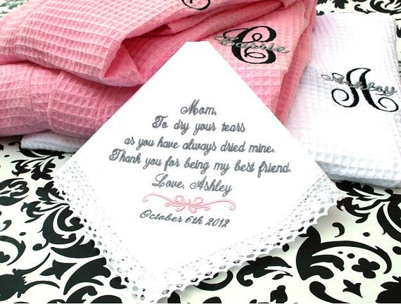 Wedding Gift Ideas For Mother Of The Bride: Wedding Gift For Mother Of The Bride Handkerchief