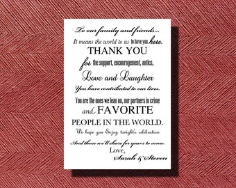 Wedding Day Thank You Card for Guests