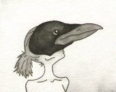 Crow / Raven - Original Artwork / Illustration - ACEO