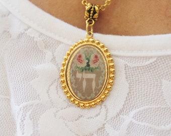 Chai cameo necklace, Chai charm, Chai necklace, Cameo necklace, Life charm, Chai cameo