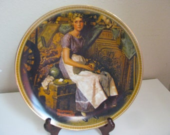 Vintage Norman Rockwell Plate Dreaming in the Attic (1983)