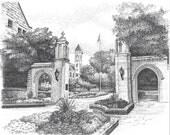 Sample Gates, Indiana University 8X10
