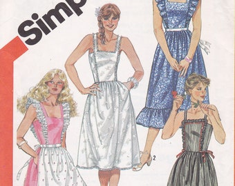 Simplicity 5895 Dress sewing pattern from 1983 multi sized 8 10 12