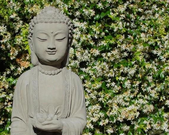 """24"""" Tall SAKYAMUNI BUDDHA STATUE - Hand-Crafted Cast Stone Garden Art (a)"""