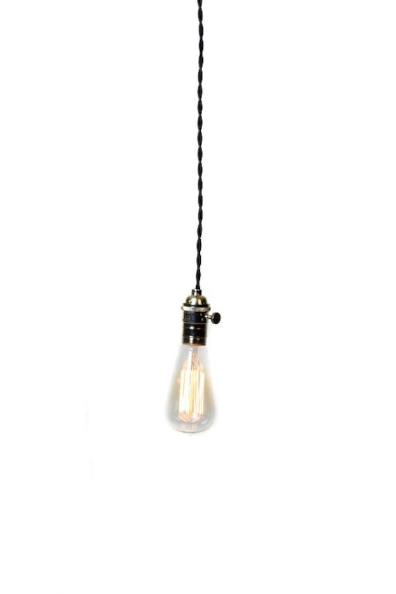 Simply Modern Bare Bulb Chrome Socket Pendant Light