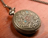 RARE Vintage MOLNIJA Pocket Watch - History of Russian Cities - Moscow - Russia