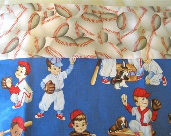 SALE Baseball PillowCase Cotton Handmade SALE