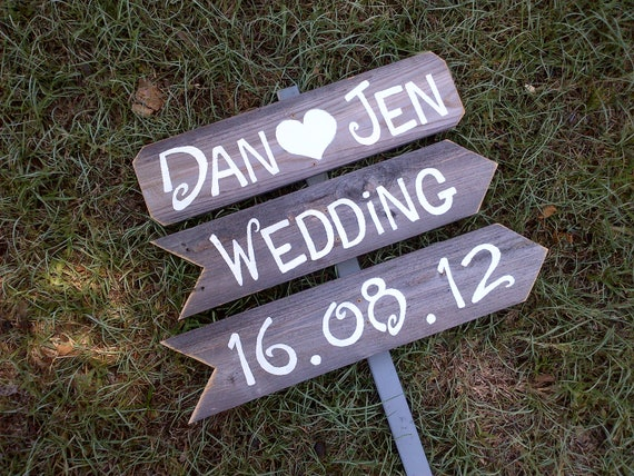 Items Similar To Wedding Signs Reclaimed Wood Signs Hand