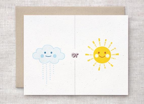 Rain or Shine Valentines Card