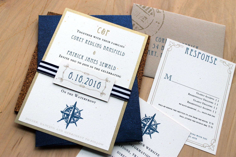 Sailboat Wedding Invitations: Destination Wedding Invitations Wedding Invitations Nautical